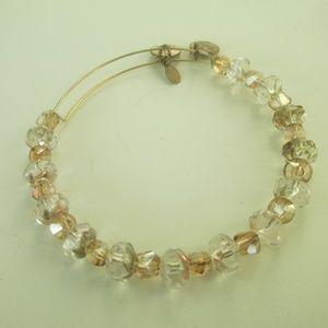 Alex & Ani  crystal bracelet gold